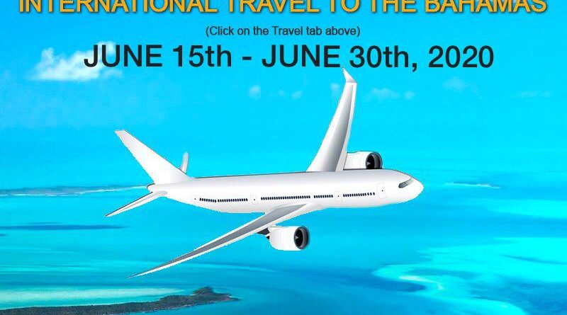 Steps for International Travelers Entering The Bahamas June 15th – 30th, 2020, by Aircraft, Yacht or Pleasure Vessel